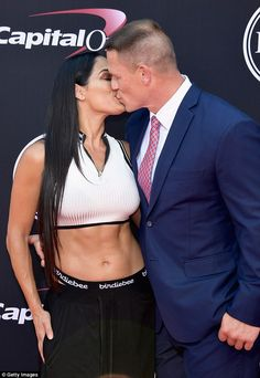 Wrestling stars, John Cena and Nikki Bella who got engaged in April in front of over fans at Wrestlemania, kissed and packed on the . John Cena Nikki Bella, Nikki And Brie Bella, John Cena 2017, Nicki Bella, Brie Bella Wwe, Nikki Bella Photos, Wrestling Stars, Wwe Girls, Wrestling Superstars