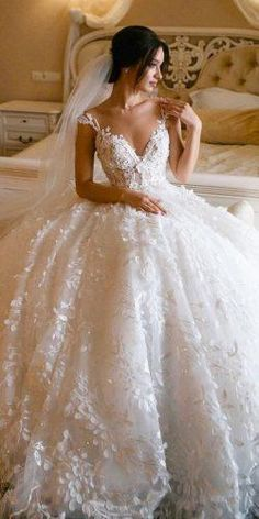 Lace Straps Ball Gown V-neck Long Wedding Dresses Online, Cheap Bridal Dresses, . - - Lace Straps Ball Gown V-neck Long Wedding Dresses Online, Cheap Bridal Dresses, Source by rylieotto Wedding Dress Trends, Long Wedding Dresses, Princess Wedding Dresses, Perfect Wedding Dress, Wedding Ball Gowns, Tulle Wedding, Vintage Wedding Dresses, Wedding Ceremony, Wedding Ideas