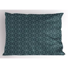 Antique Pillow Sham Moroccan Oriental Design with Geometric Shapes Circles Corners Print, Decorative Standard King Size Printed Pillowcase, 36 X 20 Inches, Petrol Blue and Sky Blue, by Ambesonne Pillow Shams, Pillows, Oriental Design, Moroccan Decor, Geometric Shapes, King Size, Circles, Tapestry, Sky