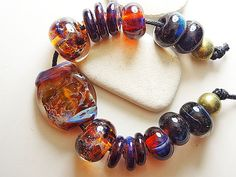 Lampwork Boro Beads ANCESTRAL Two Sisters by TwoSistersDesignss, $20.00