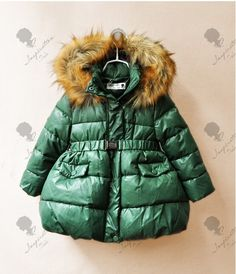 (27.00$)  Watch now - http://aizbe.worlditems.win/all/product.php?id=2037206068 - Y13026105 Retail New 2016 Winter Fashion Baby Girls Coat Worm Winter Worm Girls Outerwear Zipper Sashes Girl Clothes Princess