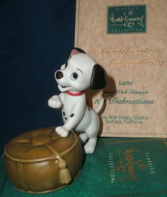 WDCC Walt Disney Classics Collection Porcelain Ornament Figurine Puppy Set