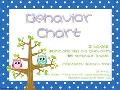Owl Classroom Behavior Chart
