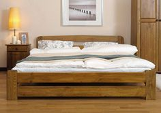 Brand New Solid Pine King Size Bed Frame Slats European 160 200 Cm
