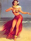 Retro Tiki Girl