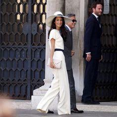 George Clooney et Amal Alamuddin: les photos du mariage civil - Elle