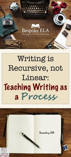 This blog by Bespoke ELA explores the idea that writing is a recursive process.  It also includes FREE task cards to reflect writing as a process in secondary English Language Arts in grades 8-12.