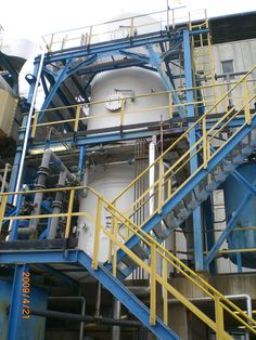 View of SELIP FRP Scrubber in WTE Bolzano plant.