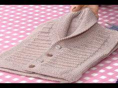 Mahi Karpinar shared a video All Free Crochet, Crochet For Kids, Crochet Baby, Knit Crochet, Knitting For Kids, Baby Knitting Patterns, Knitting Videos, Garter Stitch, Baby Sweaters