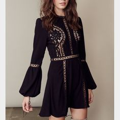 For Love & Lemons Penelope Dress For Love & Lemons Penelope Dress in black. Never been worn brand new with tags! I accept serious offers! NO TRADES!👉🏻IG: taylorlenasmith♥️ For Love and Lemons Dresses Mini