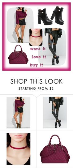 """""""sweet autumn winter style from twinkledeals black leather girly touch"""" by beanpod ❤ liked on Polyvore"""