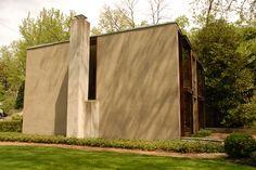 Esherick House, a 1961 home in Philadelphia designed by architect Louis Kahn