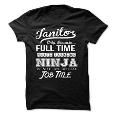 Janitor - #sleeve tee #grey tshirt. LOWEST PRICE => https://www.sunfrog.com/LifeStyle/Janitor-58838911-Guys.html?68278