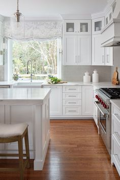 The kitchen is one of the most frequented rooms in the house. Make it a place that you love - Design by Gentry Raines Interior Design Kitchen Room Design, Kitchen Cabinet Design, Modern Kitchen Design, Kitchen Layout, Home Decor Kitchen, Interior Design Kitchen, New Kitchen, Home Kitchens, Classic Kitchen