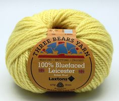 100% Bluefaced Leicester wool in Lemon. We have teamed up with another fantastic British textile manufacturer - Laxtons Yarns, worsted woollen spinners. They have produced this beautiful yarn with such a gorgeous handle especially for us to dye in our Lancashire Dye House.  British premium wool, grown, spun, dyed and balled in the UK.  #threebearsyarn #madeintheuk #weaving #knitting #crochet #crafts #Blackburnyarndyers #wool #bluefaced #madeinlancashire #britishmade #makeitbritish