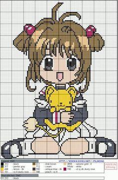Image - grille mangas sakura chasseuse de cartes - grilles point de croix - Skyrock.com
