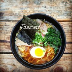 This is a bowl Ramen from Hapa PDX, a Ramen food truck on Division Street. It is as delicious as it is photogenic. I recommend the Spicy Shaka Ramen.