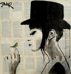 a greater harmony by loui jover | ink and collage on vintage book ...