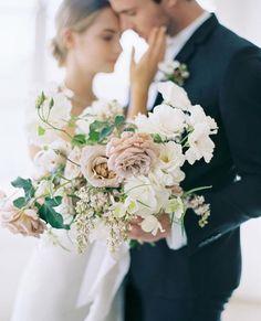 Blush bridal bouquet by Studio Mondine Photo Natalie Bray
