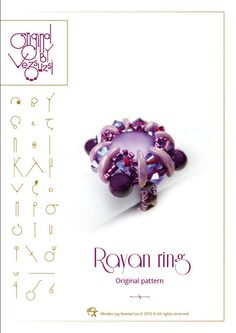 Ring tutorial / pattern Rayan ring with crescent beads ..PDF instruction for personal use only by beadsbyvezsuzsi on Etsy