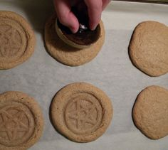 Stoneware Cookie Stampers by KinofFire on Etsy.com OMG OMG I NEED THIS