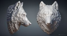 Wolf head digital sculpture. 3D model for 3d printing, CNC milling, Jewelry design       Buy Wolf head solid 3d model   buy via Turbosquid.com. Any questions? please contact me  Need a hollow 3d model?  Buy Wolf head 3d print