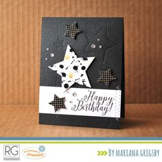 Hello everyone! I am back today to share a card featuring a couple of products from one of the new collections by Richard Garay: Noteworthy. To create this card I used a stap set called Noteworthy ...