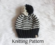 The Dark Side of The Moon Hat knitting pattern Knitting