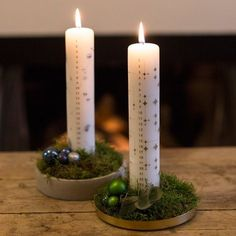 Make your own Advent decoration - DIY recipes - Søstrene Grene Days Before Christmas, Christmas Time, Holiday, Advent Candles, Pillar Candles, Christmas Advent Wreath, Christmas Decorations, Diy Weihnachten, Flower Centerpieces