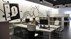 PANORAMICAS3D Office - like the use of furniture to divide space