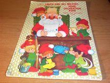VINTAGE HALLMARK SANTA HELPERS HOME DECORATION BOOK