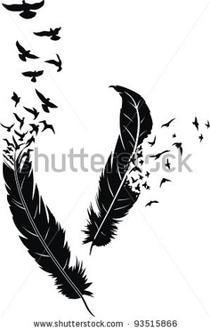 23 Best Birds Of A Feather Tattoo Designs Images Feather Tattoo