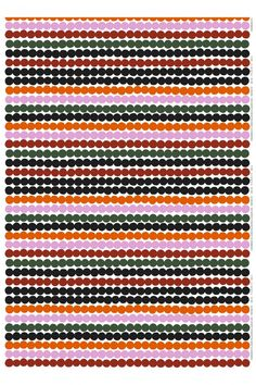 Pattern: Rasymatto by Maija Louekari Material: heavyweight cotton Repeat: 62 cmColour: white, orange, green, black Sold by the metre as it comes from the bolt. Image shows more than one pattern repeat. Green Name, Red Green, Pink Fabric, Cotton Fabric, Marimekko Fabric, Bold Prints, Art Prints, Fashion Fabric, Green Cotton