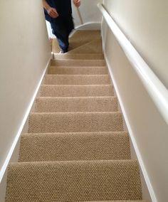 10 Sisal On Stairs Ideas Carpet Stairs Stair Runner Carpet Stairs