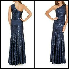 One shoulder Floor length Lined  Composition - Shell: 100% Polyester; Lining: 94% Polyester, 6% Elastane.