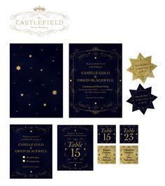 Castlefield Bridal • Celestial Invitation Design www.castlefieldbridal.com www.sophietaylor.com