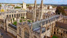 The University Church of St. Mary the Virgin dates from medieval times. Mary's stands in the center of the old walled city, and Oxford U. Visit Oxford, 7 Places, Down The River, Oxford England, Walled City, England And Scotland, British Isles, Amazing Destinations, Paris Skyline