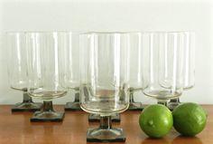 Vintage Goblets Cocktail Glasses Mid Century by ModRendition