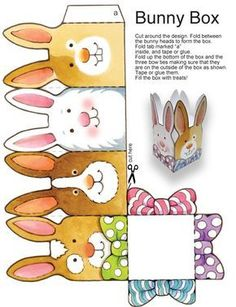 "Dover Publications Easy Easter Tabletop Crafts: 12 ""Eggscellent"" Cut & Make Deco. - Dover Publications Easy Easter Tabletop Crafts: 12 ""Eggscellent"" Cut & Make Decorations - Spring Crafts, Holiday Crafts, Holiday Decorations, Diy Ostern, Origami Box, Easter Projects, Easter Activities, Easter Crafts For Kids, Easter Ideas"
