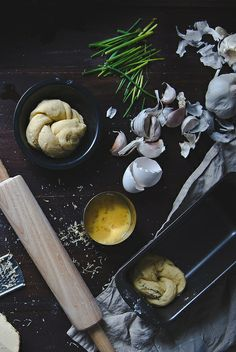 Garlic, chive, and smoked gouda brioche | Two Red Bowls