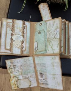 Mini Album ~ Memories - many fold outs and flaps to reveal secret pockets for more photos