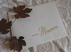 School Memories High School Senoir Year Scrapbook Photo Album Unused by Quilted Nest