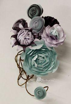 bouquet de demoiselle d'honneur de bouquet de mariée papier fleurs fille fleur bouquet