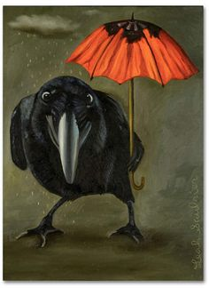 Raven Crow Wall Art - Painting - Ravens Rain 2 by Leah Saulnier The Painting Maniac Crow Art, Raven Art, Canvas Frame, Canvas Wall Art, Crows Ravens, Thing 1, Pictures To Paint, Art Pictures, Paint By Number
