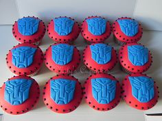 Autobots-Transformers Cupcakes   Flickr - Photo Sharing!