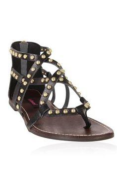metal stud gladiator sandal