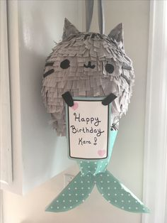 33 ideas birthday happy cat party ideas for 2019 Birthday Greetings For Women, Birthday Card Sayings, Birthday Cards For Her, Pusheen Birthday, Cat Birthday, Happy Birthday, Birthday Ideas, Mermaid Pinata, Mermaid Diy
