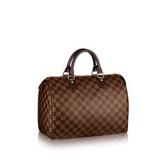 LOUIS VUITTON Speedy 30 Damier Ebene Canvas Louis Vuitton Damier, Louis  Vuitton Handbags Sale, 33d18a722d