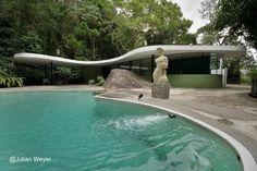 Casas das Canoas, Río de Janeiro, Brasil 1951 - Lineas curvas diseño orgánico y sensual - Arquitectura de Oscar Niemeyer
