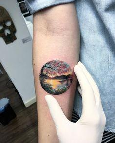 tiny-scenery-circle-tattoo